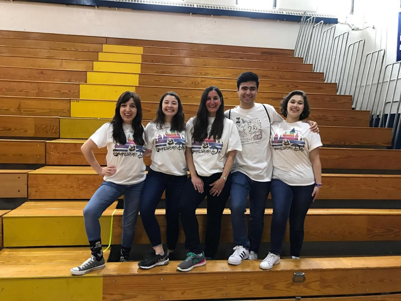 Senior+coordinators+Sarah+DeMarino%2C+Emilia+Charno%2C+Christian+Hill%2C+and+Anna+Cohen+have+helped+to+coordinate+the+past+two+Shakespeare+Days+with+Ms.+Valenti.