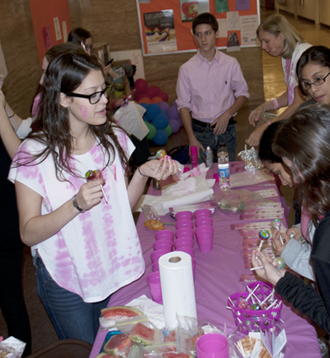 Students participate in Think Pink Day for breast cancer awareness