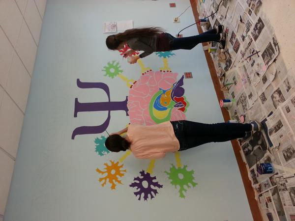 Art club paints mural in AP Psych classroom
