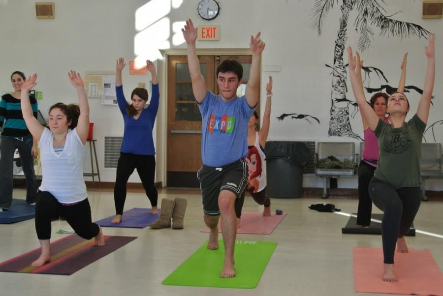 Yoga+club+offers+instruction+and+relaxation+on+Friday+afternoons+