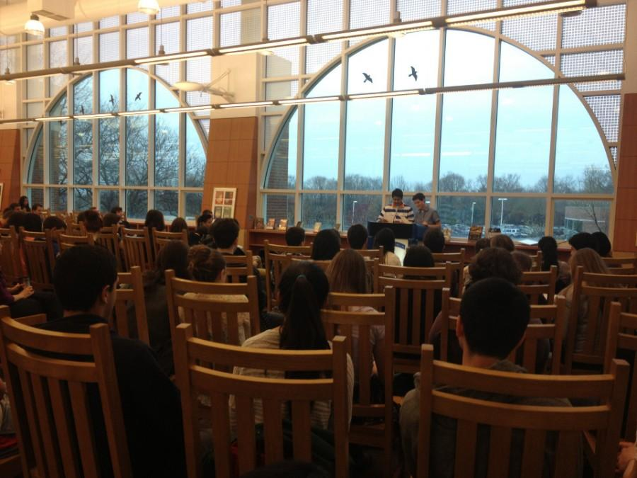 Students and staff recite poetry in celebration of National Poetry Month