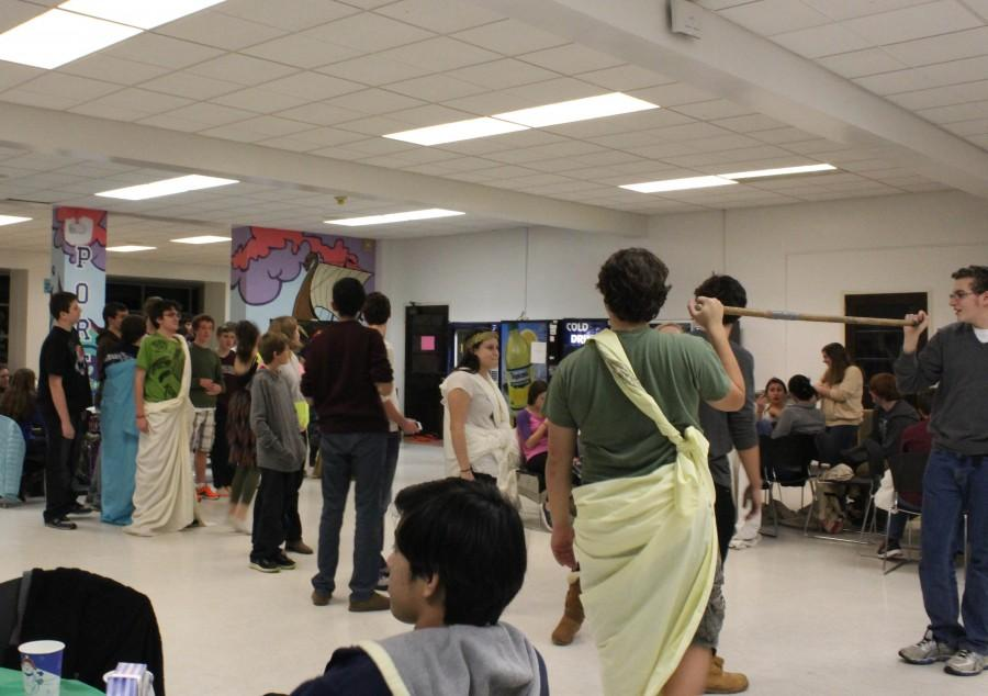 Classes come together after hours to celebrate Saturnalia