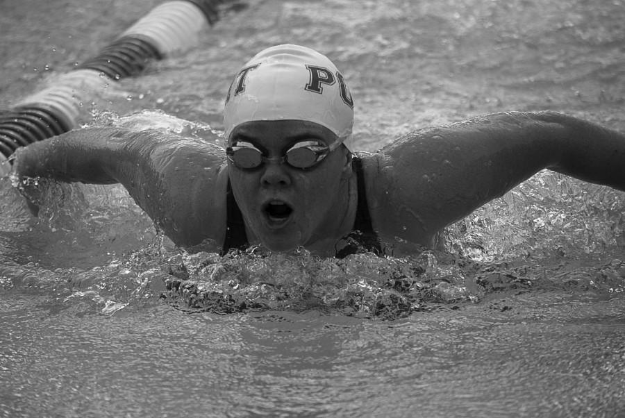Girls swimming adjusts to new competition