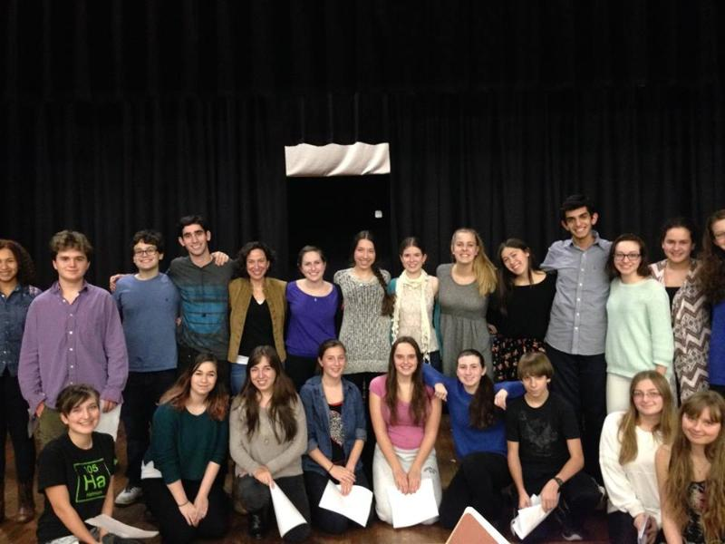Musical theatre workshop led by coach Wendy Perelman