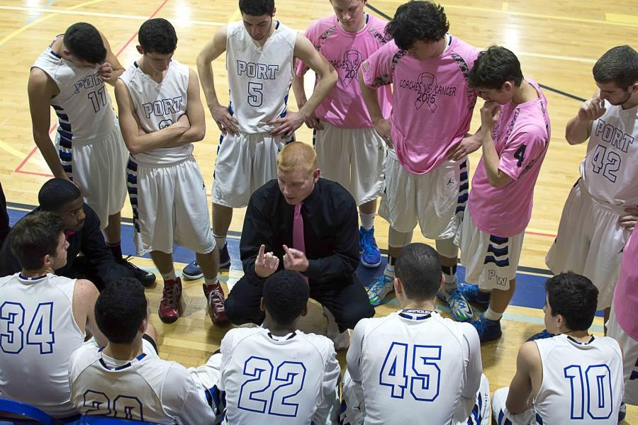 Boys+varsity+basketball+team+knocked+out+in+first+playoff+round%3A+After+clinching+postseason+berth+at+senior+game%2C+Port+falls+in+heartbreaker+to+MacArthur