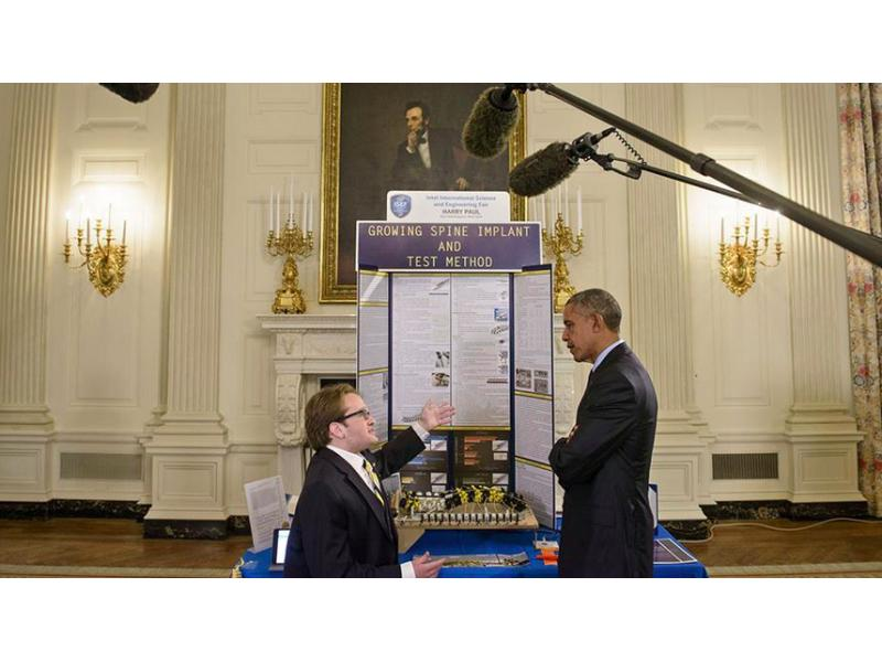Harry Paul attends the Presidential Science Fair