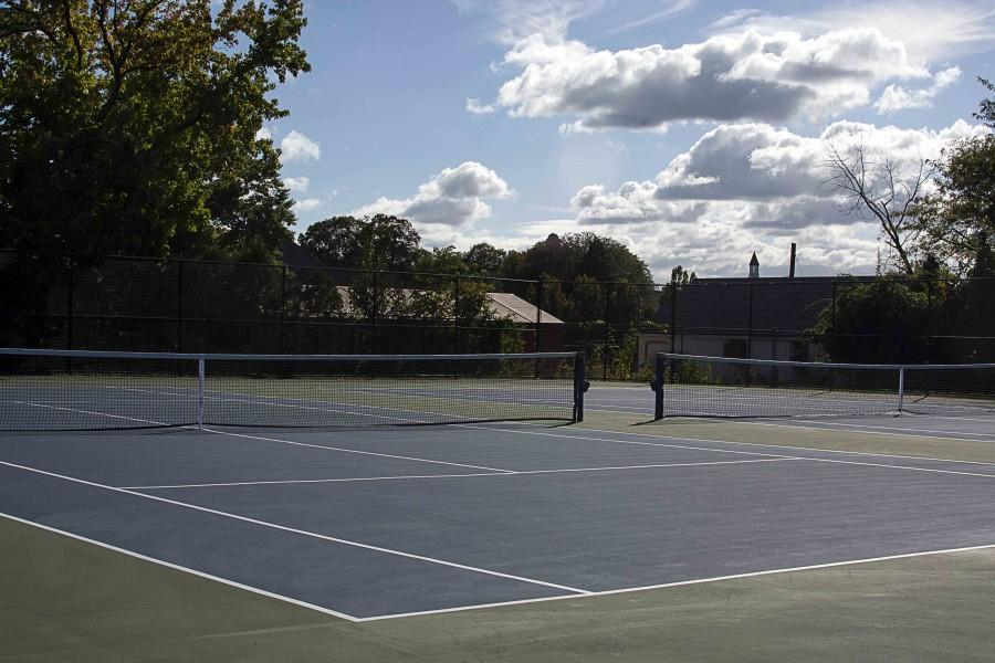 The+new+renovated+courts+will+serve+as+home+of+the+boys+and+girls+tennis+teams.++Both+teams+look+to+improve+upon+a+very+successful+tradition+of+Viking+tennis.