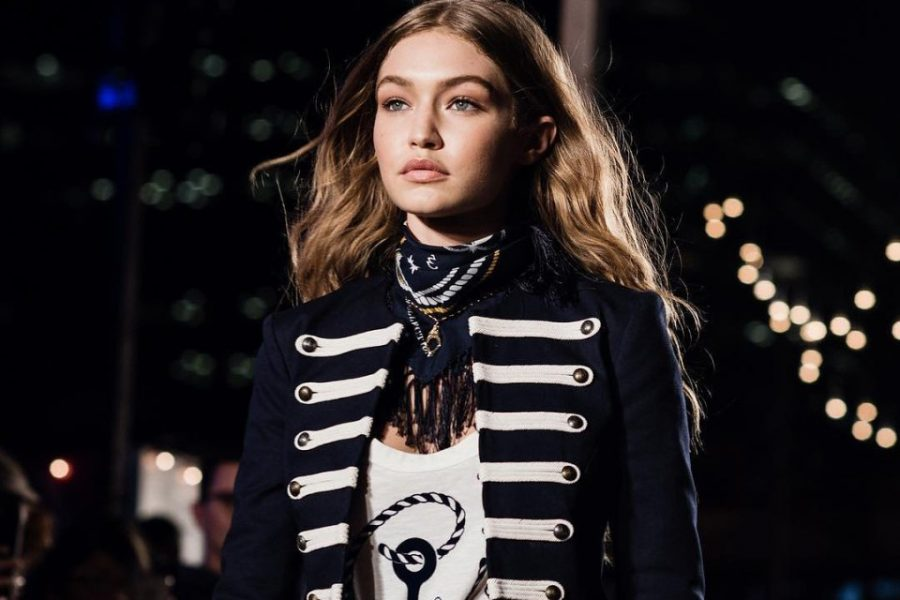 Victoria%27s+Secret%27s+Gigi+Hadid+models+at+the+Tommy+Hilfiger+fashion+show+in+New+York+City.