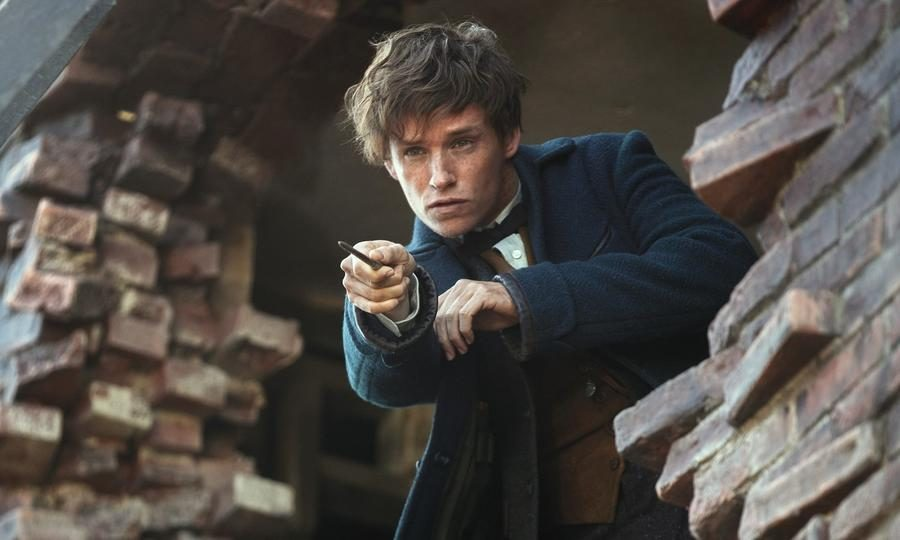 Eddie+Redmayne+as+Newt+Scamander%2C+the+main+character+of+the+movie%2C+casting+a+spell+to+further+himself+on+his+journey+to+recapture+the+beasts.
