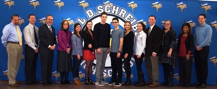 Seniors+Samantha+D%27Alonzo%2C+Allison+Winter%2C+Michael+Nachman%2C+Dylan+Langone%2C+Lauren+Seidman%2C+and+Maria+Kogan+became+scholars+in+the+Regeneron+STS+competition.