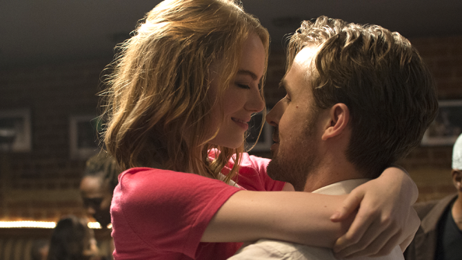 Ryan+Gosling+and+Emma+Stone+embrace+in+a+scene+from+La+La+Land.+The+film+has+been+nominating+for+14+Oscars+this+season.