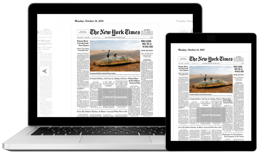 Pictured+above+are+the+digital+versions+of+The+New+York+Times.