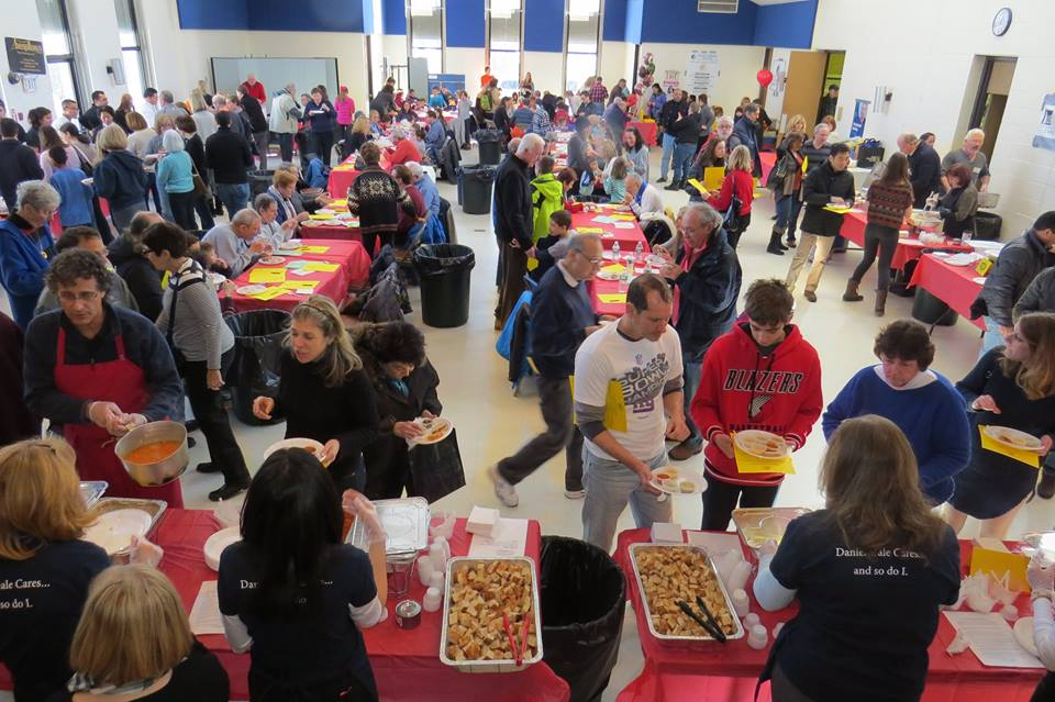 Community members gather to sample a variety of soups from local restaurants at the Souper Bowl on Feb. 4.