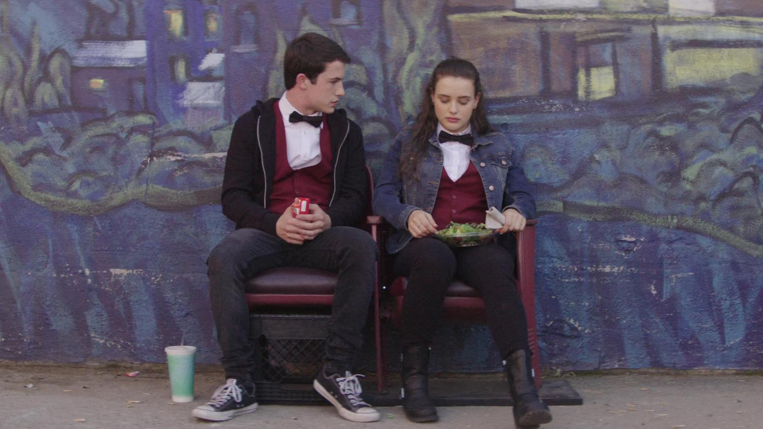 Hannah Baker (Katherine Langford) and Clay Jensen (Dylan Minnette) met at a movie theater before forming a friendship, and later confusing relationship.