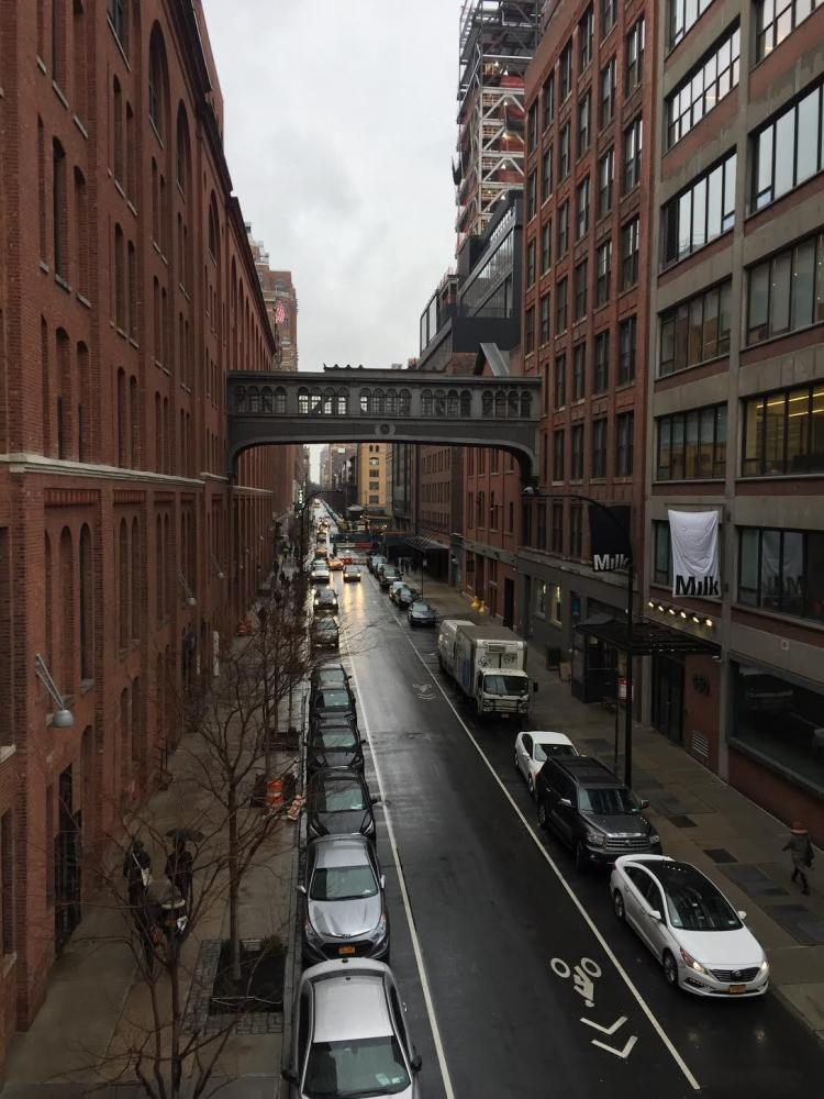 The Highline is a great place to take a stroll on a warm spring day. There are various things to do while strolling the Highline, including snacking on the variety of food carts lined up through the tunnel.
