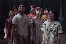 The main characters of It, Bill, Ben, Beverly, Mike, Richie, and Eddie, try to solve the mystery of the supernatural being in their small Pennsylvania town. The movie has a Stranger Things feel, with children trying to solve a mystery.