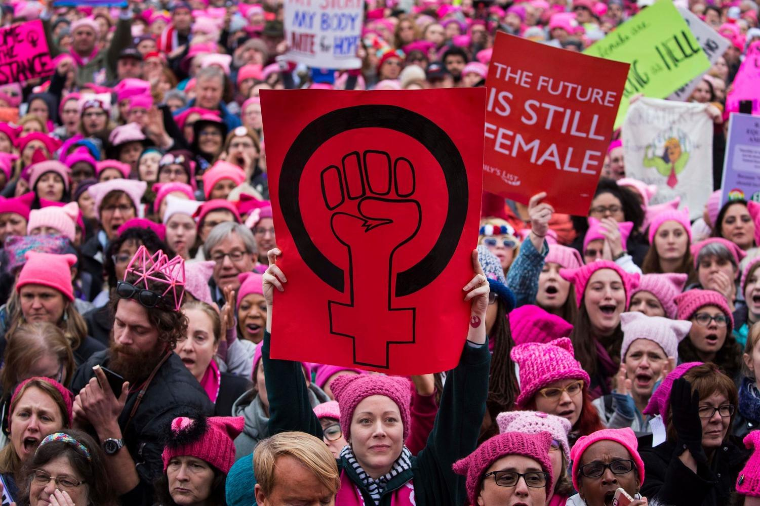 At the Washington, D.C. Women's March on Jan. 21, 2017, thousands of feminists walked in solidarity to show their support for women's rights. Similar marches took place all over the country on this day, many in protest of President Donald Trump's presidency.