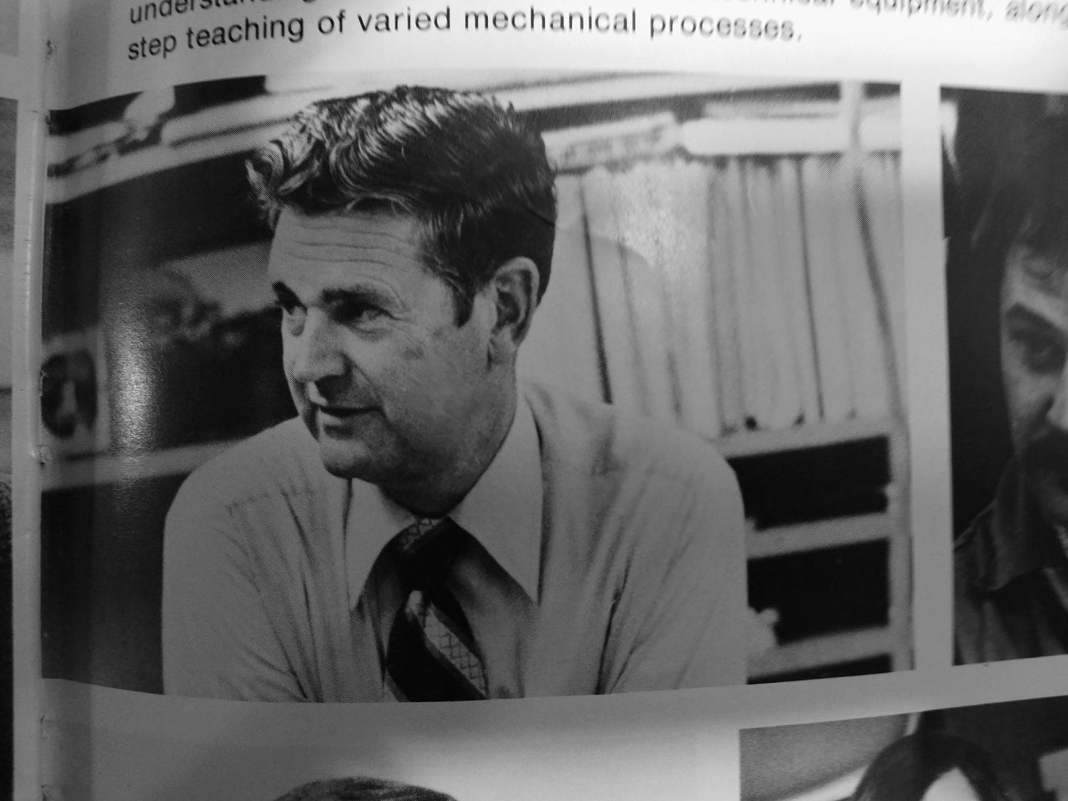 McIlhenny is pictured in the 1974 Schreiber yearbook as chair of the Technology department.