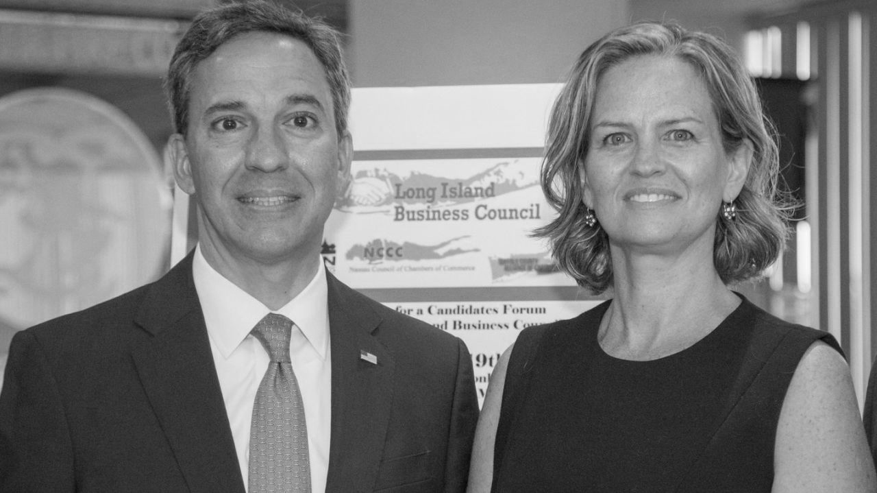 Republican Jack Martins (left) and democrat Laura Curran (right) both vie for the seat of Country Executive. This seat's history has been marred by corruption scandals as recently as the current holder, Ed Mangano, who was arrested last year for bribery. Both candidates have proposals to reform the system.