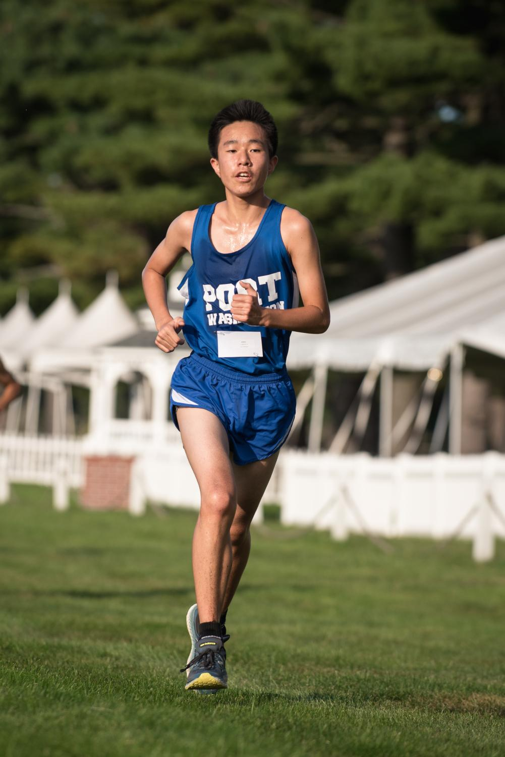 Freshman Yukawa Ito finishes a four-kilometer race at Bethpage State Park on Monday, Sept. 11.