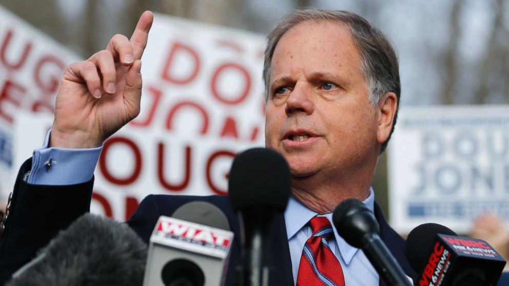 Doug Jones (pictured) and Roy Moore duked out a fierce election in Alabama but Jones, in an unanticipated upset, came out on top.