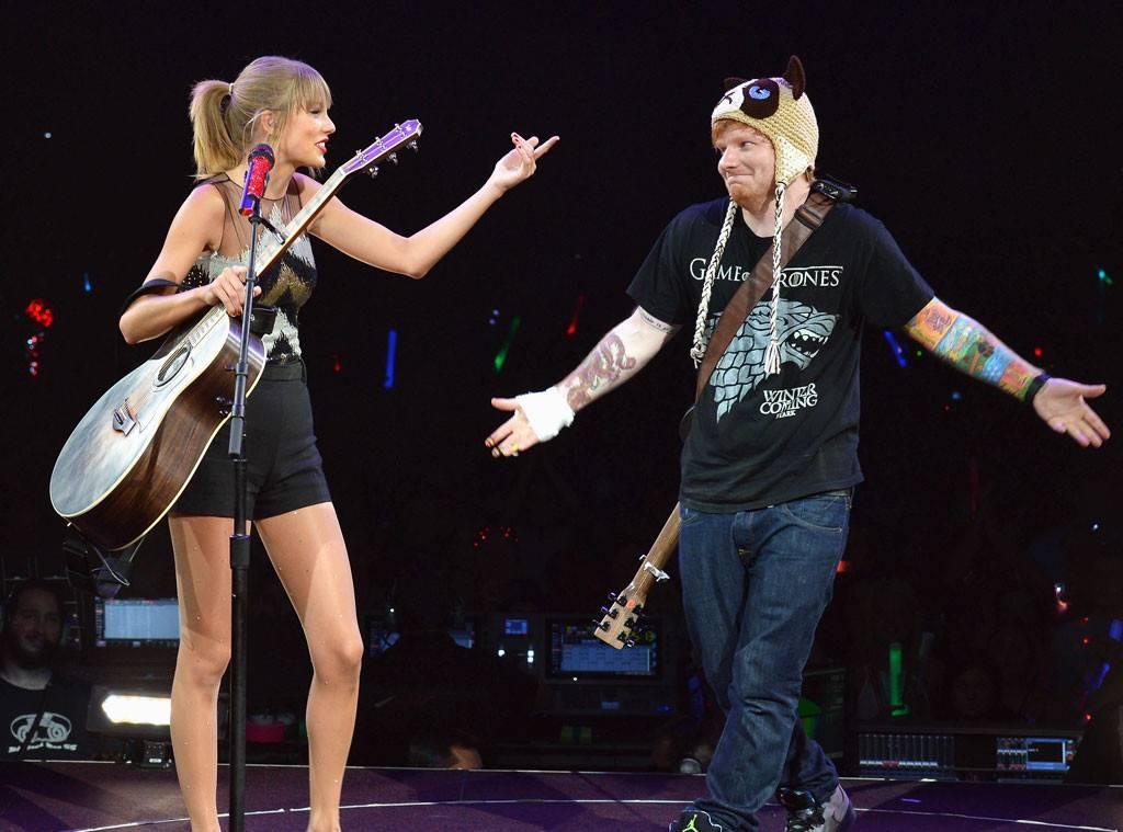 Taylor Swift and Ed Sheeran sang Taylor Swift's new single