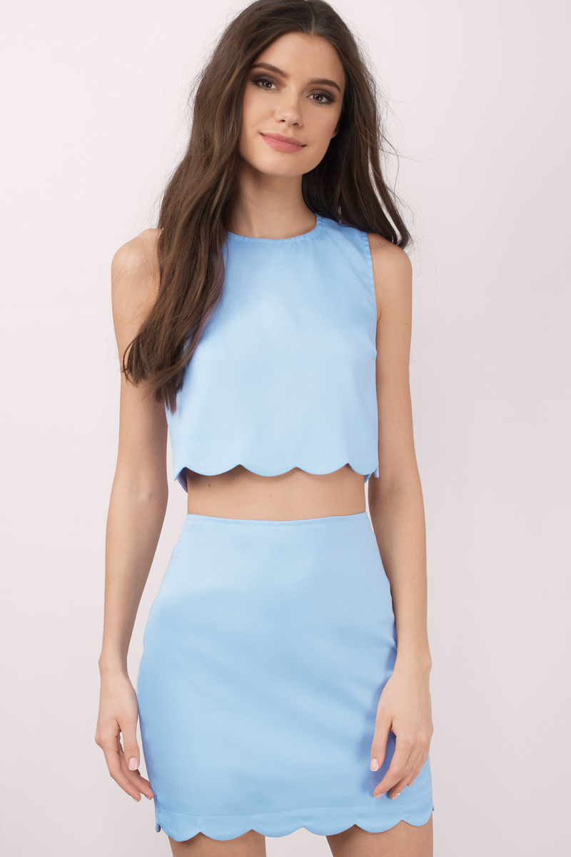 A two piece dress is a perfect outfit for New Year's Eve.