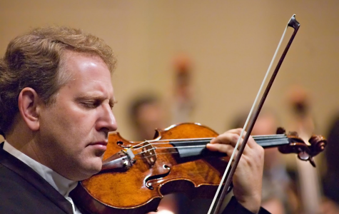 World-renowned violinist performs for music students