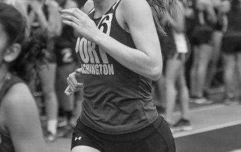 Senior Megan Mazzini ecstatic after breaking record