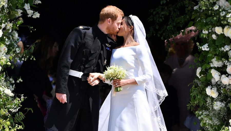 Meghan+Markle+and+Prince+Harry+seal+the+deal+at+St.+George%27s+Chapel+at+Windsor+Castle+at+noon+on+May+19+the+same+time+that+the+Port+Washington+Public+Library+hosted+its+viewing+event.