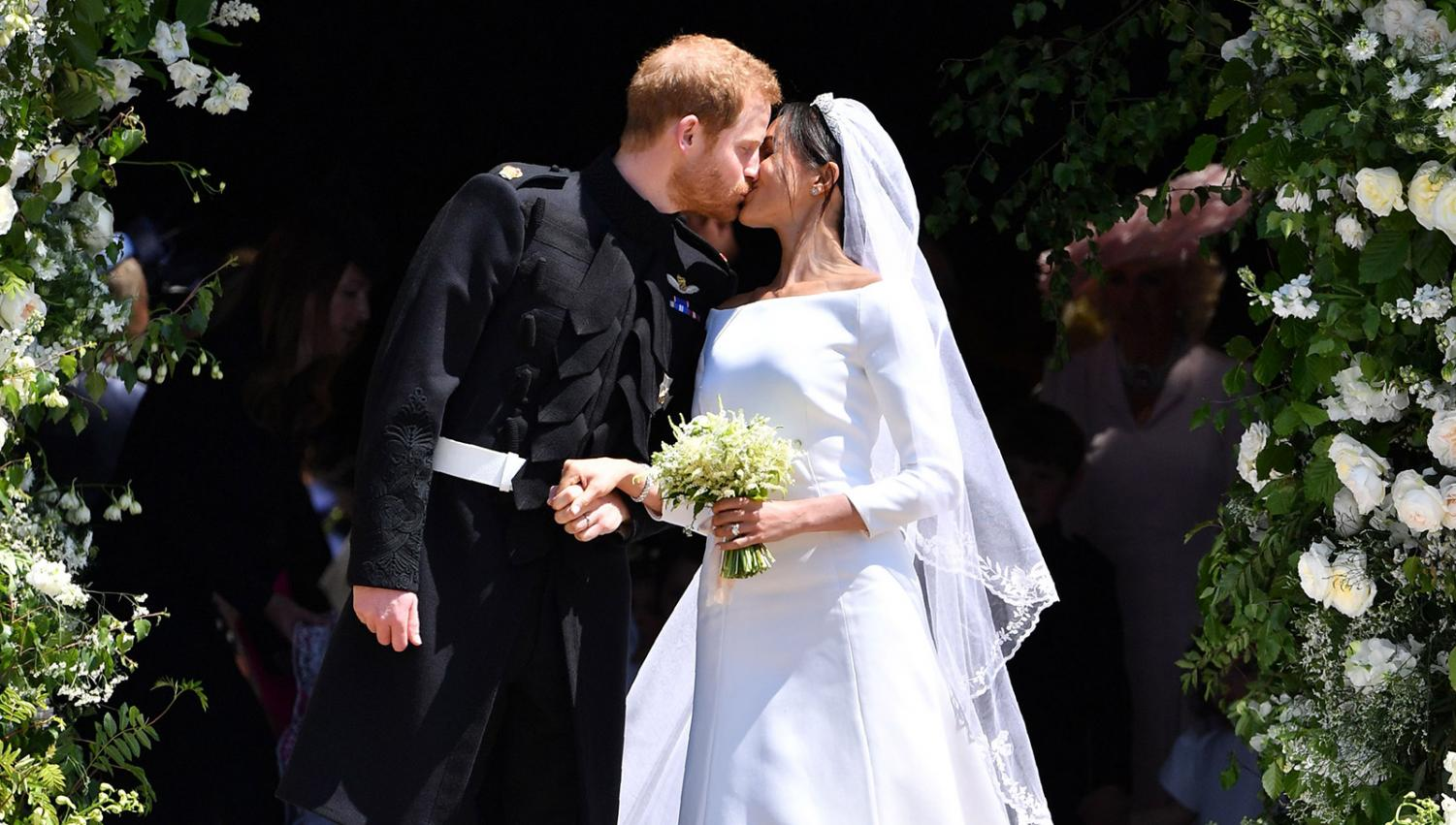 Meghan Markle and Prince Harry seal the deal at St. George's Chapel at Windsor Castle at noon on May 19 the same time that the Port Washington Public Library hosted its viewing event.