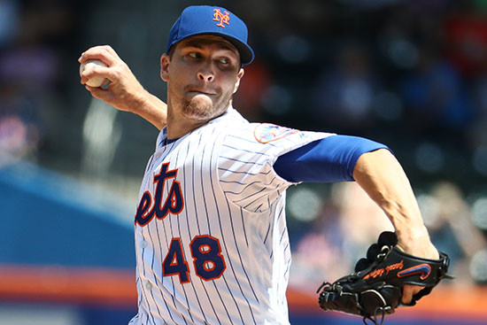 Jacob Degrom hopes to win the Cy Young with his 1.77 ERA.