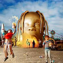 The album cover has two children enjoying themselves at Scott's own Astroworld carnival.