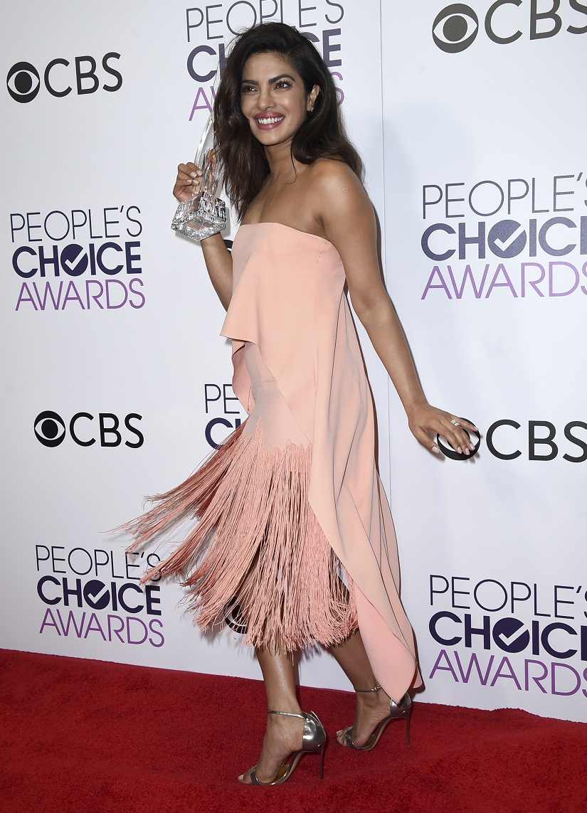 Actress Priyanka Chopra taks home the award for Favorite Dramatic TV Actress.