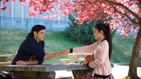 In To All the Boys I've Loved Before, Peter Kavinsky and Lara Jean agree to pose as each other's fake boyfriend and girlfriend. This is a pivotal scene in the movie.
