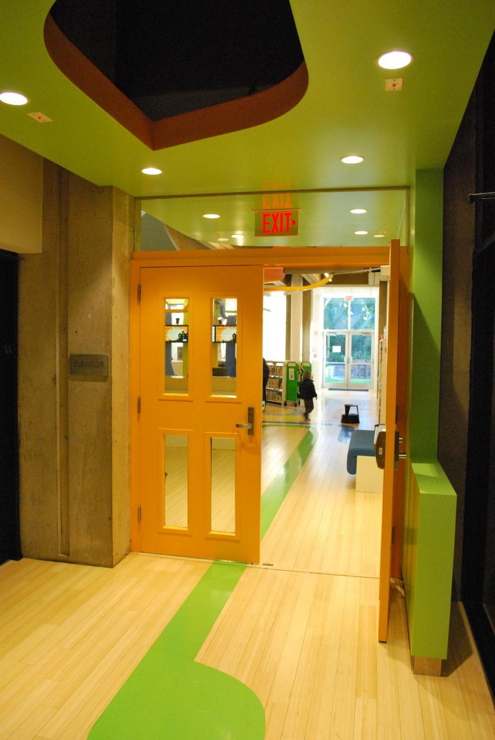 The entrance to the Children's Room is now vibrant and more welcoming.
