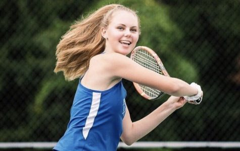 Senior captain Brittany Polevikov swings during practice before a match against Jericho on Oct. 8.