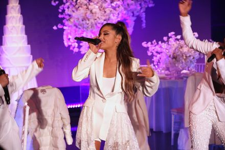Ariana Grande sang her new single