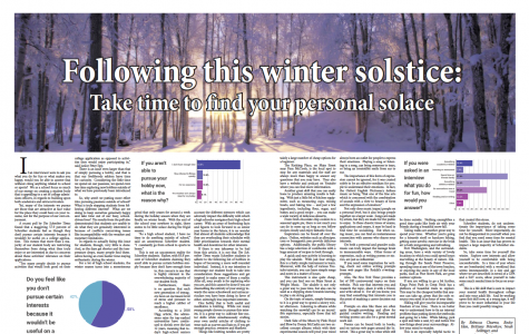 Following this winter solstice: Take time to find your personal solace