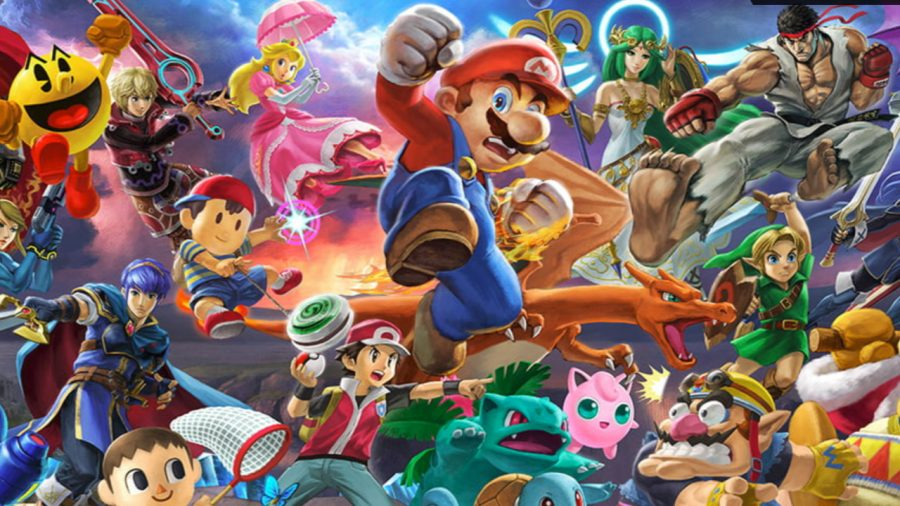 Video+gamers+are+excited+to+play+Super+Smash+Bros+Ultimate+as+it+combines+a+variety+of+fan+favorite+characters.