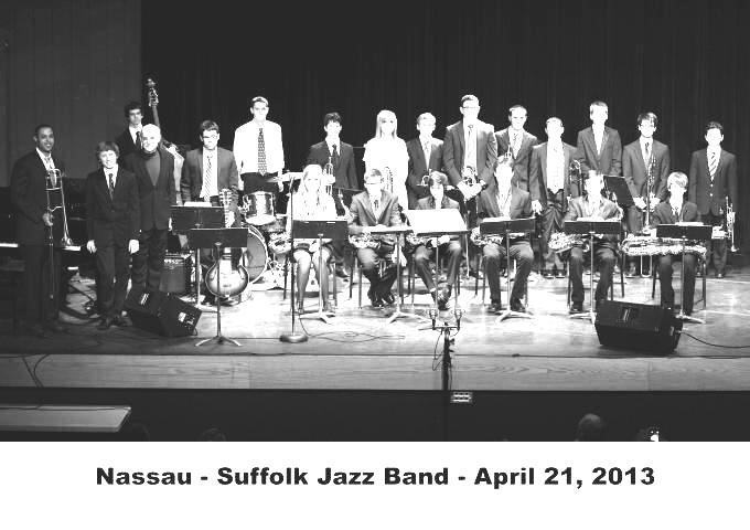 All-County+Nassau+jazz+musicians+from+2013%27s+ensemble+gather+onstage+in+preparation+to+perform.