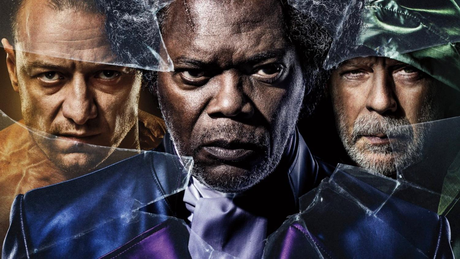 Bruce Willis, Samuel L. Jackson, and James McAvoy star as the three main characters in Glass.