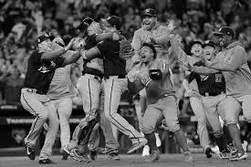 The Nationals celebrate after defeating the Houston Astros in seven games in order to capture Washington D.C.'s first World Series title.  A very interesting off-season awaits them as many key players are now free agents.