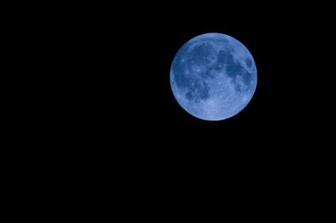 Full blue moon on Halloween for the first time since 1944