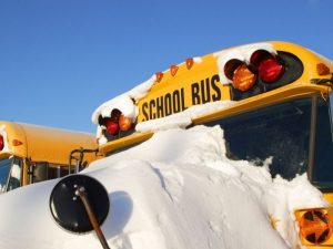 bus, cold, education, elementary, emergency, freeze, ice, lights, mirror, park, ride, safety, school, schoolbus, snow, students, traffic, tr