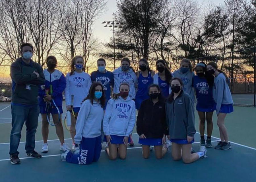 A successful start of the season for girls' varsity tennis