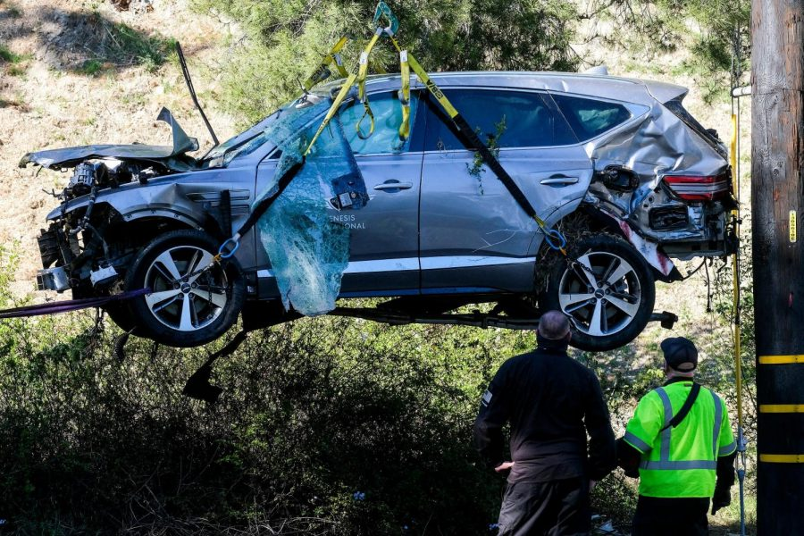 Woods' sleepy driving may have caused car crash